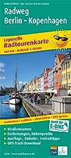 Radweg Berlin - Kopenhagen: Leporello Radtourenkarte mit Ausflugszielen, Einkehr- und Freizeittipps, wetterfest, reißfest, abwischbar, GPS-genau. 1:50000 (Leporello Radtourenkarte / LEP-RK)