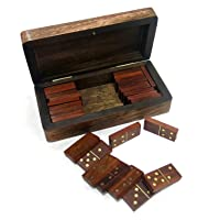Ages Behind Wooden Domino Game Indoor Game Decorative Item Size - 6 x 3.5 x 1.5 inches