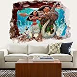 3D Ocean Stereo Creative Moana Living Room Bedroom Decor Romance Home Furnishing Waterproof Wall Stickers