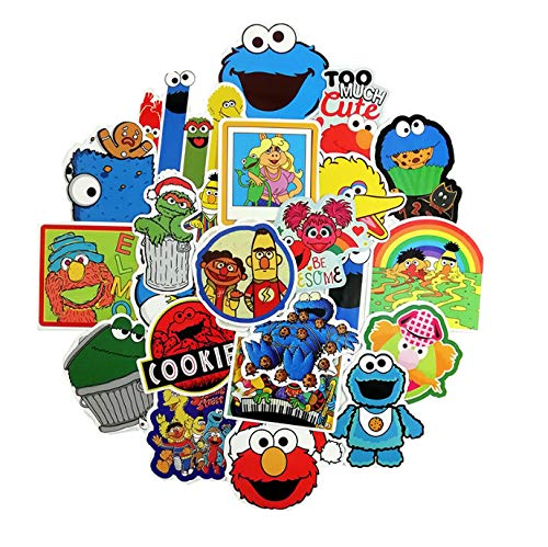 50PCS/Lot American Sesame Street Stickers for Car Styling Bike Motorcycle Phone Laptop Travel Luggage Cool Funny DIY Toy Sticker (Street Bike Aufkleber Sticker)