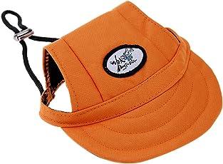 Generic Pet Dog Cat Kitten Letter Baseball Hat Neck Strap Cap Sunbonnet S Orange