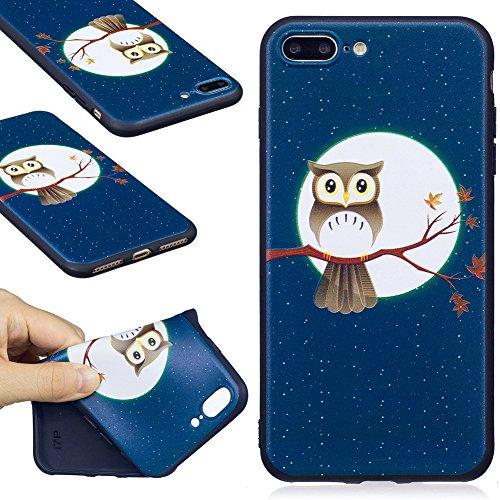 KM-WEN® Schutzhülle für Apple iPhone 7 (4,7 Zoll) Klassisch Schwarz Farbmalerei Serie Bambus Panda Muster Ultra-dünnes Weiche TPU Case Cover Rückseite Gefrostet Fühlen Schutzhülle Hülle für Apple iPho Farbe-8