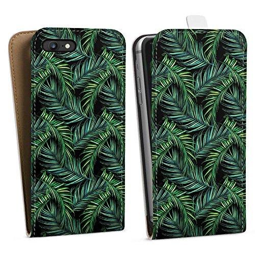 Apple iPhone X Silikon Hülle Case Schutzhülle Palmen dschungel Natur Downflip Tasche weiß