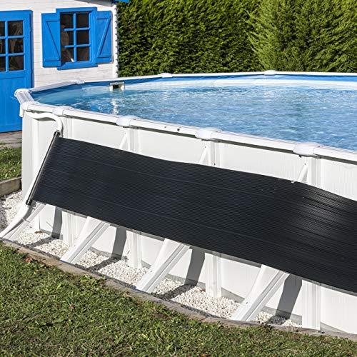 Práctico calentador solar apto para piscinas elevadasCaracterísticasSistema para calentamiento del agua de la piscina mediante la acción solar.Fabricado en polietileno.Aumenta la temperatura del agua hasta 6ºC.Datos técnicosMas de 12 kw/h de calor al...