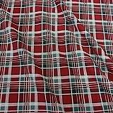 Stoff Baumwollstoff Meterware Karo Tartan rot grün weiß Schottenkaro