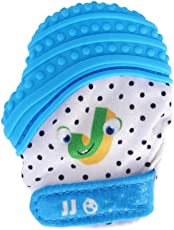 Forberesten Silicone Teething Mitten BPA Free Gloves for Infants (Green, CWD!:#RM##5365)