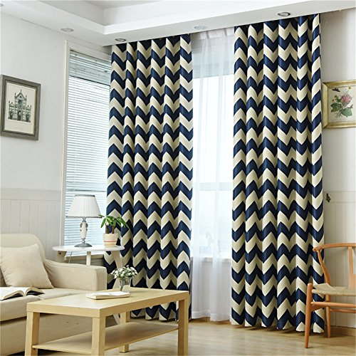 dunkelungsvorhänge Mit Ösen Vorhänge Blickdichte 100cmx250xm Gardinen 1 Stück Vorhänge für Küche, Wohnzimmer Kinderzimmer-Blau ()