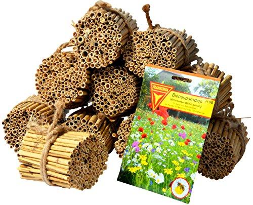 Luxus-Insektenhotels 22690e Schilfrohrhalme Set plus Samenmischung Bienenparadies, 35 Sorten, circa 1000 Stück, 9 cm lang