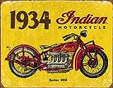 Desperate Enterprises Indian Motorcycles 1934 Blechschild Flach 31x40cm S3382
