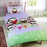 Los niños 'buenas noches mi novia de funda de edredón juego de cama de búho, poliéster, Multicolor, cama individual