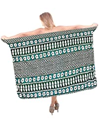 La Leela Knot Sarong/Inbuilt Ties Resort Coverup Bathing Suit Bikini Beachwear Swimsuit