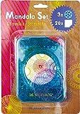 Spiegelburg Juego de Mandala para Colorear y Dibujar (Azul)