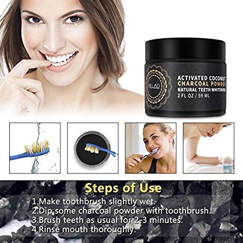Misyo Charcoal Teeth Whitening Powder, Organic Coconut Activated Charcoal Teeth Whitening, Enamel Safe Teeth Whitener for Sensitive Teeth Gums, Fresh Mint Flavor