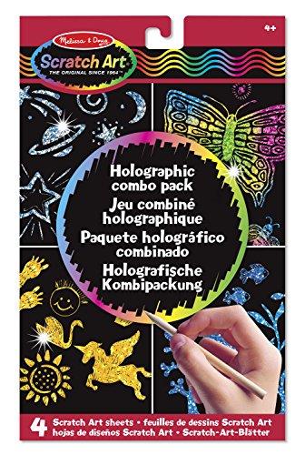 Melissa & Doug - 15806 - Scratch-Art-Blätter: Holografische Kombipackung