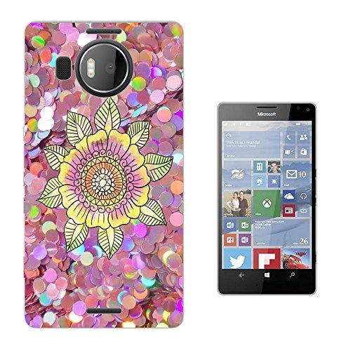 002860 - Galaxy Colourful Henna Paisley Aztec Flower Pattern Design Microsoft Nokia Lumia 950 XL Fashion Trend Silikon Hülle Schutzhülle Schutzcase Gel Rubber Silicone Hülle