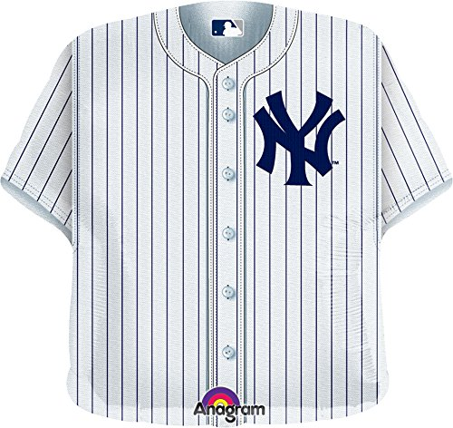 Anagram International New York Yankees Party-Luftballons, Jersey, flach, 61 cm, mehrfarbig