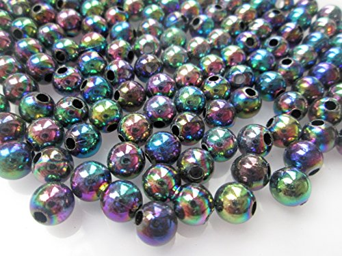 100-x-8mm-round-acrylic-beads-choice-of-colours-and-finishes-1st4beads-tm-metallic-rainbow-pacrl003m