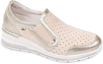 Valleverde Scarpa Donna Camoscio 18201 Sabbia o Blu. Una Calzatura Comoda Adatta per Tutte Le Occasioni. Primavera Estate 2020