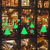 Noël Stickers Muraux,LUCKYCAT Amovibles Mur De Fenêtres 2019 En Vinyle De La Autocollants Maison DIY Autocollant lumineux de mur de flocon de neige de Noël