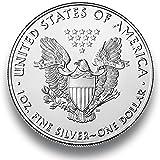 Silbermünze American Eagle - 2018 - einzeln in Münzkapsel verpackt - 1 Unze Silber - Neu und prägefrisch