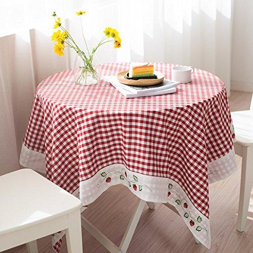 CJH Tischdecke Tuch Tischdecke Rechteckige kleine frische Kunst Tischdecke Runde Tischdecken Platz Grid Tischset Tuch ( Size : 140*140cm )