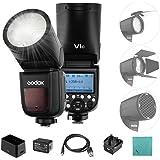 Godox V1C Flash Cámara Profesional Speedlite Speedlight de Cabeza Redonda inalámbrica 2.4G compatible con Canon EOS Series 15