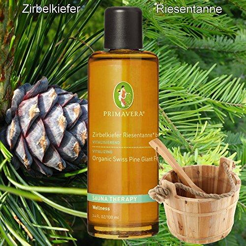 Preisvergleich Produktbild Primavera Bio-Aufgusskonzentrate / Saunaduft / Bioduft mit 100 % naturreinen ätherische Ölen,  Duft:Zirbelkiefer Riesentanne* bio