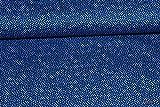 Baumwollstoff unregelmäßige Pünktchen blau | 1,38 Meter