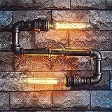Luci Da Parete,Creative Home Lighting Vento Industriale Retrò Tubazione Acqua Lampada Da Parete (Questo Prodotto Senza Fornire Lampadina)
