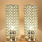 AOSHE Kristall tischlampe, dekorative nachttisch Zimmer lampen, nachttisch dekorative Zimmer Schreibtisch Lampe, nachtlicht Lampe, tischlampen für Schlafzimmer, Wohnzimmer,2pase