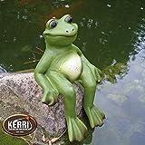 Frosch Frösche Kantenhocker Froschfigur Keramikfrosch