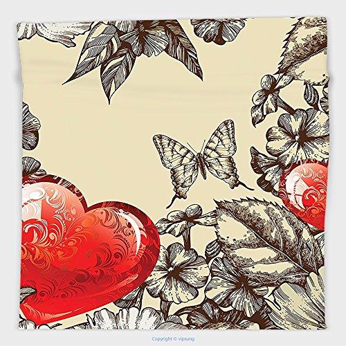 vipsung Mikrofaser Ultra Soft Hand towel-victorian Decor Kollektion florales Ornament Damast Blüht Classics Silhouette Fancy Luxus Symbolische Art für Hotel Spa Beach Pool Bad, Stil 23, 9.8W By 9.8L Inch (Damast-bad)