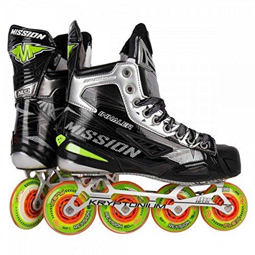 Mission Inlinehockey Skate Inhaler NLS:01 - Senior, Größe:10 = 45.5, Weite :EE (1 Roller Hockey Skates)