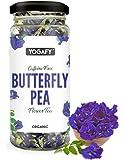 YOGAFY Organic Butterfly Pea Flower Tea | Helps in Skin Repair | 30 Gram - 75 Cups |