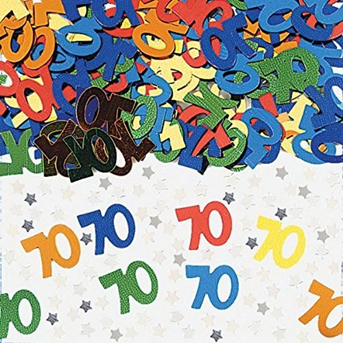 Shatchi CONFETTI-70TH-MIX-1PK-14029 - Confeti de 70 cumpleaños (14 g, unisex)