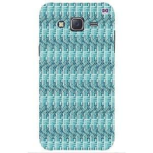 Green & Lavender Design - Mobile Back Case Cover For Samsung Galaxy J5 (2015)