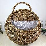 TOOGOO Wicker Rattan Jarron Basket Garden Terrace Pared redonda Garden Flower Shop Materiales naturales