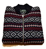 Fred Perry Maglia Jumper Uomo Men giro Made In Italy maglione Lana Wool Full zip (s)