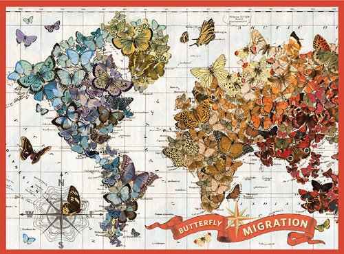 Puzzle: Wendy Gold Butterfly Migration 1000 PC (Jigsaw Puzzle)