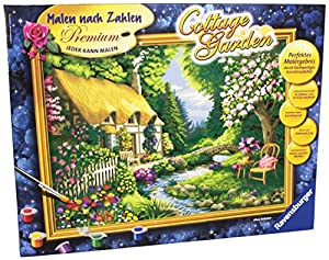 Ravensburger Cottage Garden Imagen para Colorear Individual - Libros y páginas para Colorear (Imagen para Colorear Individual, 400 mm, 300 mm, Pintura acrílica)
