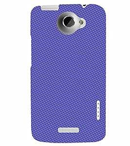 PrintVisa Corporate Print & Pattern Blue Dots 3D Hard Polycarbonate Designer Back Case Cover for HTC One X