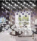 LIQICAI Türvorhang Perlenvorhang DIY Kristall für Hochzeit Party Club Schaufenster Raumteiler, 5 Farben erhältlich (Farbe : Violet, Größe : 30 * 240cm)