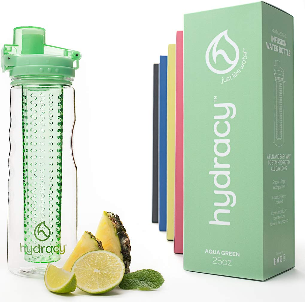 Hydracy-Fruit-Infuser-Water-Bottle-750ml-Sport-Bottle-with-Full-Length-Infusion-Rod-and-Insulating-Sleeve-Combo-Set-27-Fruit-Infused-Water-Recipes-eBook-Gift-Your-Healthy-Hydration-Made-Easy