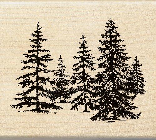 Holz montiert Stempel Inka-Stand von Pines