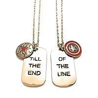 giulyscreations Collane Metallo Nichel Free Captain America e Bucky Barnes Scudo Capitan America Till The End of The…