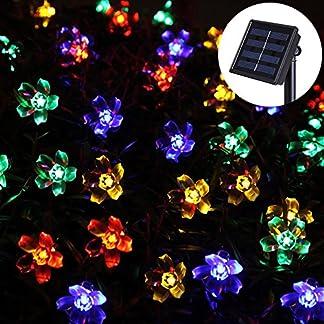 uping® Solar Luz Cadena 50LED flores para fiestas, Jardín, Navidad, Halloween, bodas, iluminación decorativa en interiores y exteriores etc. resistente al agua 7m multicolor