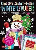 Kreative Zauber-Folien: Winterzauber: Set mit 10 Zaubertafeln, 20 Folien und Anleitungsbuch