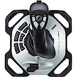 Logitech G Extreme 3D Pro Joystick, Control de Timón con Eje de Torsión, 12 Botones Programables, Selector de Vista 8 Vias, B