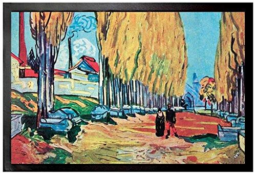 Vincent Van Gogh - Les Alyscamps, 1888 Felpudo Alfombrilla (60 x 40cm)