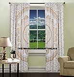 indischen Ombre Mandala Vorhang Panel Set Exotic Living Bed Room Fenster Drapes Decor Bohemian Tüll-Set Baumwolle Tür Fenster Vorhang Tuch Panel Vorhänge von handicraft-palace